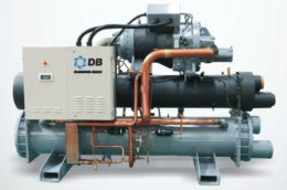 Чиллер с водяным охлаждением Dunham-Bush (горизонтальный винтовой компрессор), серия WCHX-A